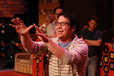 """Mike Dowdy as Dick, singing """"9% Chance of Your Love"""" in New Line Theatre's """"High Fidelity,"""" 2012. Photo credit: Jill Ritter Lindberg."""