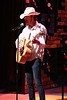 """Ryan Foizey as Neil Young, singing """"Exit Sign"""" in New Line Theatre's """"High Fidelity,"""" 2012. Photo credit: Jill Ritter Lindberg."""