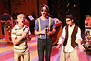 """Keith Thompson, Ryan Foizey, and Todd Micali singing """"The Last Real Record Store on Earth"""" in New Line Theatre's """"High Fidelity,"""" 2012. Photo credit: Jill Ritter Lindberg."""