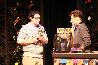 """Mike Dowdy as Dick and Jeffrey M. Wright as Rob Gordon in New Line Theatre's """"High Fidelity,"""" 2012. Photo credit: Jill Ritter Lindberg."""