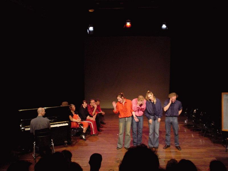 "Improv of an important moment from the audience: ""Choice of High-school""."