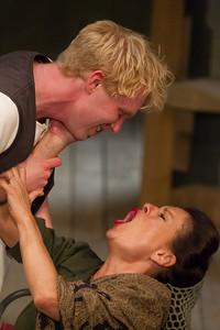 Michael Benz as Hamlet Miranda Foster as Gertrude