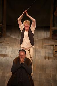 Michael Benz as Hamlet Dickon Tyrell as Claudius