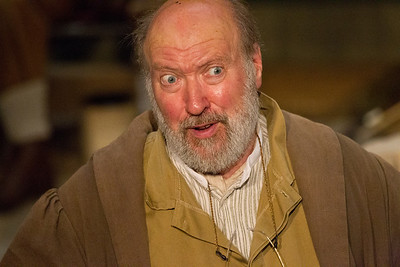 Polonius,(played by Christopher Saul)