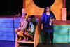 "(l-r) Heather McNamara (Larissa White), Heather Duke (Cameisha Cotton),  and Veronica (Anna Skidis), in ""Blue,"" in New Line Theatre's HEATHERS, 2015. Photo credit: Jill Ritter Lindberg."