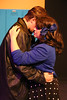 """J.D. (Evan Fornachon) and Veronica (Anna Skidis) sing """"Seventeen,"""" in New Line Theatre's HEATHERS, 2015. Photo credit: Jill Ritter Lindberg."""