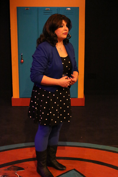 Anna Skidis as Veronica, in New Line Theatre's HEATHERS, 2015. Photo credit: Jill Ritter Lindberg.