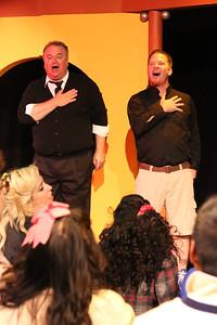 "Kurt's Dad (Joel Hackbarth) and Ram's Dad (Chris Kernan), singing ""My Dead Gay Son,"" in New Line Theatre's HEATHERS, 2015. Photo credit: Jill Ritter Lindberg."