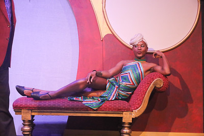 Tielere Cheatem as Jacob the butler (or maid), in LA CAGE AUX FOLLES, New Line Theatre, 2019. Photo credit: Jill Ritter Lindberg.