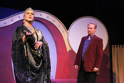 Zachary Allen Farmer as Albin/Zaza, and Robert Doyle as Georges, in LA CAGE AUX FOLLES, New Line Theatre, 2019. Photo credit: Jill Ritter Lindberg.