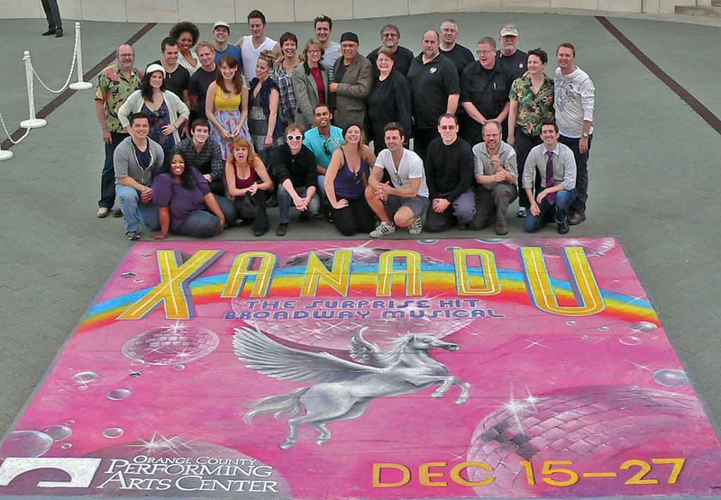 Our company photo outside the OCPAC in Costa Mesa where there was a real chalk mural.