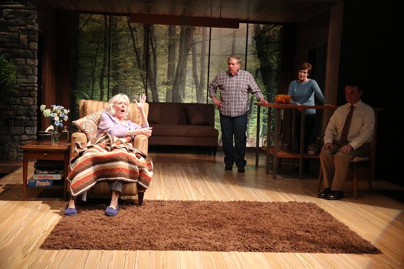 (from left to right) Kathleen Butler, Michael Willis, Julie-Ann Elliott and Michael Glenn in MARJORIE PRIME at Olney Theatre Center<br /> photo: Nicholas Griner