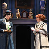 Patricia Hurley (Mary Poppins) and Eileen Ward (Winifred Banks)  in Olney Theatre Center's Mary Poppins. (Photo: Stan Barouh)