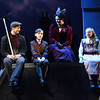 Rhett Guter (Bert), Henry Mason (Michael Banks), Patricia Hurley (Mary Poppins), and Audrey Kilgore (Jane Banks) in Olney Theatre Center's Mary Poppins. (Photo: Stan Barouh)