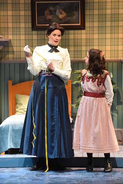 Patricia Hurley (Mary Poppins) and Katharine Ford (Jane Banks) in Olney Theatre Center's Mary Poppins. (Photo: Stan Barouh)