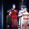 Patricia Hurley (Mary Poppins), Eileen Ward (Winifred Banks), Henry Mason (Michael Banks), and Audrey Kilgore (Jane Banks) in Olney Theatre Center's Mary Poppins. (Photo: Stan Barouh)