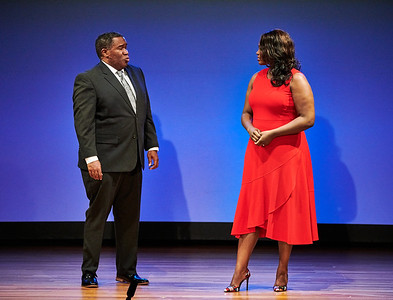 """Sept.16,  2019 - New York, NY   The Guggenheim's Works and Process presents The Metropolitan Opera: The Gershwins' Porgy and Bess  The Gershwins' Porgy and Bess returns to the Met for the first time since 1990 in a production directed by James Robinson with choreography by Camille A. Brown in their company debuts. America's """"folk opera,"""" as described in 1935 by its creators, tells the story of Porgy, sung by Eric Owens, and his love for the drug-addicted Bess, portrayed by Angel Blue, with an all-star ensemble that includes Golda Schultz. General Manager Peter Gelb moderates a discussion   Photographer- Robert Altman Post-production- Robert Altman"""