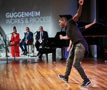 "Sept.16,  2019 - New York, NY   The Guggenheim's Works and Process presents The Metropolitan Opera: The Gershwins' Porgy and Bess  The Gershwins' Porgy and Bess returns to the Met for the first time since 1990 in a production directed by James Robinson with choreography by Camille A. Brown in their company debuts. America's ""folk opera,"" as described in 1935 by its creators, tells the story of Porgy, sung by Eric Owens, and his love for the drug-addicted Bess, portrayed by Angel Blue, with an all-star ensemble that includes Golda Schultz. General Manager Peter Gelb moderates a discussion   Photographer- Robert Altman Post-production- Robert Altman"