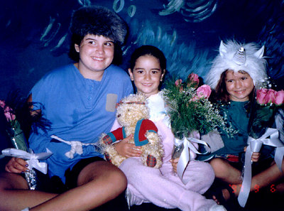 Davene as Bitts, Joelle as Michael and Kaily as Tiny