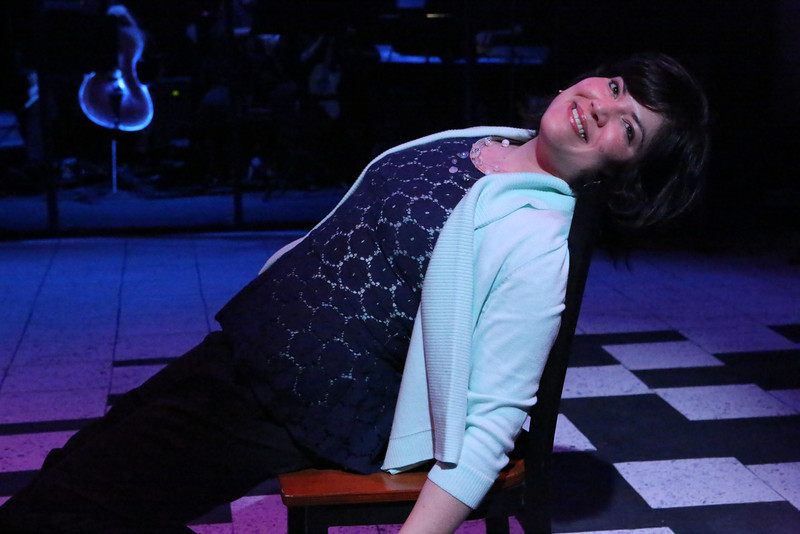 """Kimi Short as Diana, singing """"My Psychopharmacologist and I"""" in New Line Theatre's """"Next to Normal,"""" 2013. Photo credit: Jill Ritter Lindberg."""