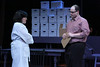 """Kimi Short as Diana and Zachary Allen Farmer as Dr. Madden, in New Line Theatre's """"Next to Normal,"""" 2013. Photo credit: Jill Ritter Lindberg."""