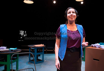 "4/1/14: This photograph was taken during rehearsal of the Cypress College production of ""Nickel and Dimed.""  jim.mccormack@mac.com"