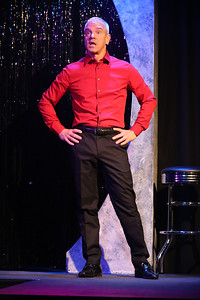 """Keith Thompson singing """"You Can Always Count on Me,"""" in OUT ON BROADWAY: THE THIRD COMING, New Line Theatre, 2017. Photo credit: Jill Ritter Lindberg."""