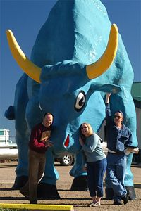 Oil Citians with Babe the Blue Ox near Brainerd, MN