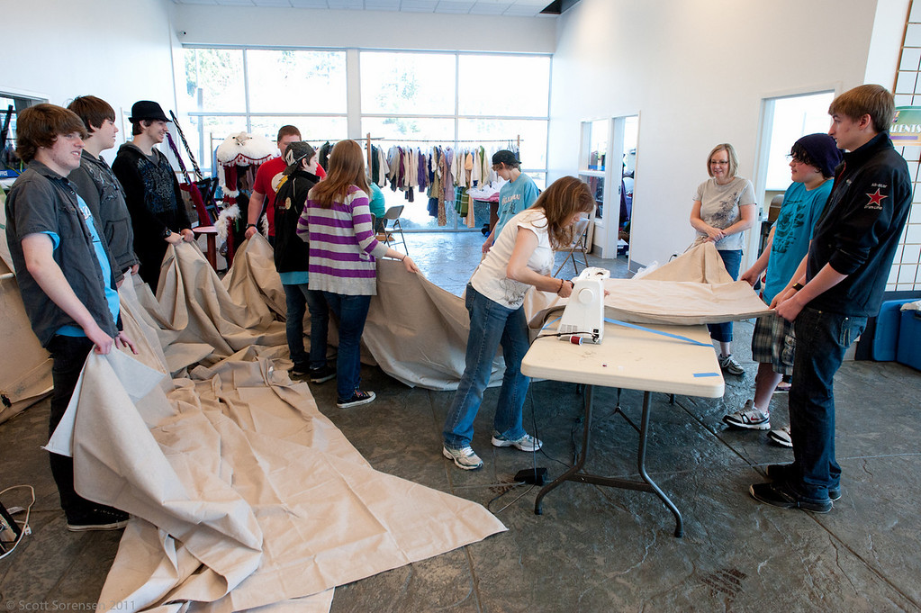 Costume shop resources are helpful for creating backdrops, too!
