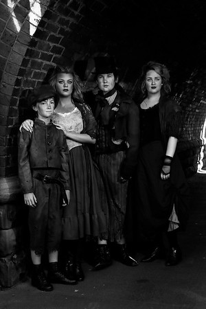 Oliver cast (monochrome)