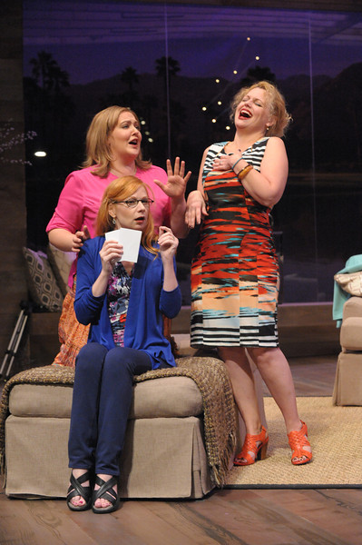 Tracy Lynn Olivera, Susan Lynskey and Tonya Bechman in RANCHO MIRAGE now playing at Olney Theatre Center through October 20. (Photo: Stan Barouh)