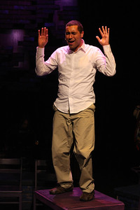 """Keith Parker as the Youth singing """"Stoned"""" in New Line Theatre's """"Passing Strange."""" Photo credit: Jill Ritter Lindberg."""