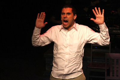 """Keith Parker as the Youth performing """"Identity"""" in New Line Theatre's """"Passing Strange."""" Photo credit: Jill Ritter Lindberg."""