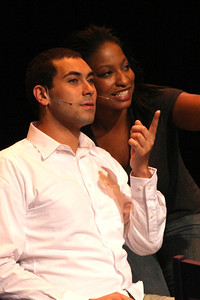 """Keith Parker and Jeanitta Perkins, in New Line Theatre's """"Passing Strange."""" Photo credit: Jill Ritter Lindberg."""