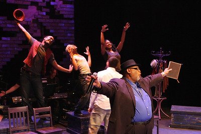 """The company of New Line Theatre's """"Passing Strange."""" Photo credit: Jill Ritter Lindberg."""