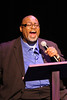 "Charles Glenn as the Narrator in New Line Theatre's ""Passing Strange."" Photo credit: Jill Ritter Lindberg."