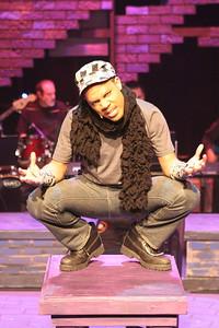 "John Reed II as the performance artist Mr. Venus in New Line Theatre's ""Passing Strange."" Photo credit: Jill Ritter Lindberg."