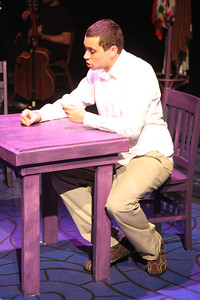 """Keith Parker as the Youth in New Line Theatre's """"Passing Strange."""" Photo credit: Jill Ritter Lindberg."""