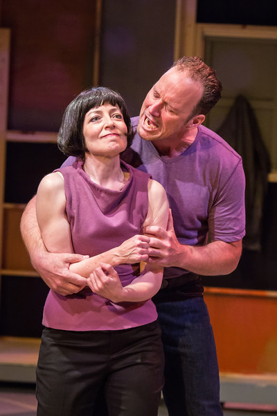 (R-L) Maureen Porter (Kate) & James Farmer (Petruchio),  Photo Credit: David Kinder