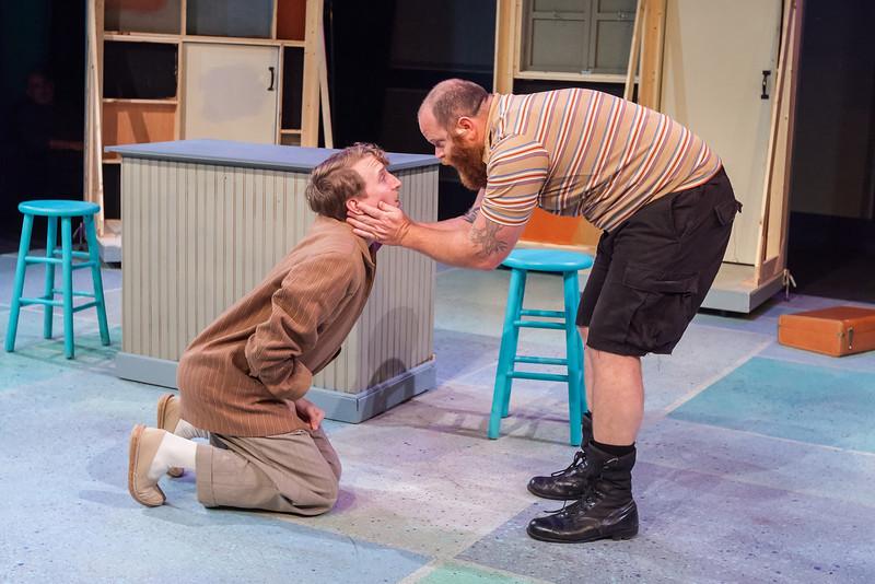 Nikolas Hoback (Grumio) & Rusty Tennant (Curtis), Photo Credit: David Kinder