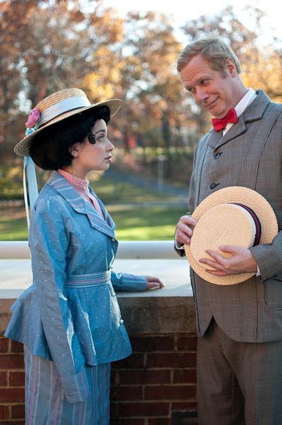 Marian (Emma Gorin) and Harold Hill (John Allnutt)