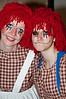 Sharon Ippolito and Katie Mayo as Raggedy Ann and Andy