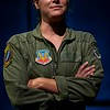 Megan Anderson as The Pilot in George Brant's GROUNDED. Photo by ClintonBPhotography.