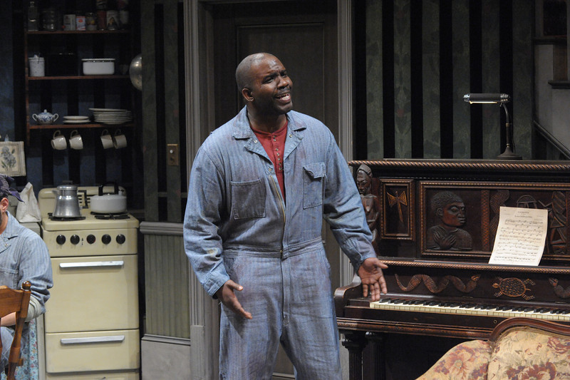 Ronald Conner as Boy Willie in Olney Theatre Center's production of THE PIANO LESSON. (Photo by Stan Barouh)
