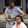 Jessica Frances Dukes as Berniece and Nicole Wildy as Maretha in Olney Theatre Center's production of THE PIANO LESSON. (Photo by Stan Barouh)
