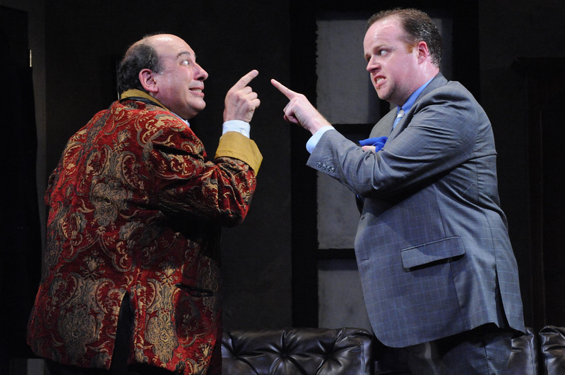 Michael Kostroff as Max Bialystock and Michael Di Liberto as Leo Bloom in Olney Theatre Center's production of THE PRODUCERS. (Photo: Stan Barouh)