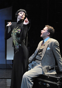 Who does one trust when spies are all around?  Olney Theatre Center presents THE 39 STEPS with Jeffries Thaiss and Susan Lynskey.  Photo Credit: Stan Barouh