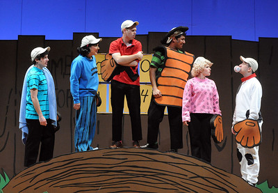 The Peanuts gang is all here and ready to play a little baseball in Olney Theatre Center's production of YOU'RE A GOOD MAN, CHARLIE BROWN.  (Photo: Stan Barouh)