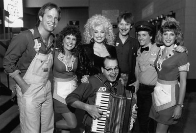 Chicago PUMP BOYS & DINETTES cast with Dolly Parton Mark Rust, Maggie LaMee, Shawn Stengel, Tom Mendel, Malcolm Ruhl, Donna Watton