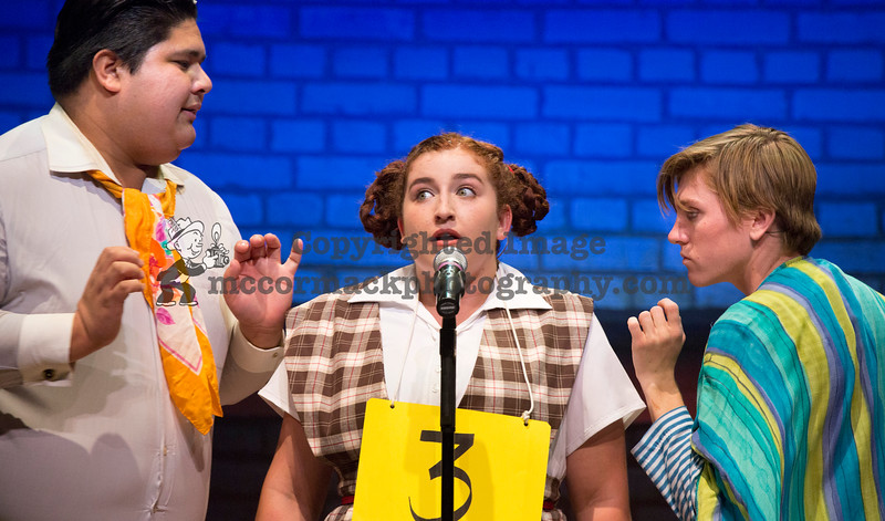 "10/5/16: Photograph taken during rehearsal of the Cypress College production of the ""25th Annual Putnam County Spelling Bee.""  Photo jim.mccormack@mac.com"